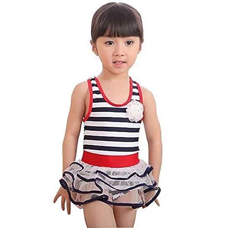 c585081e09b Kids Swimwear One Piece y Swimsuit Toddler Bathing Suit Biquini Infantil Girls  Swimwear Child Beachwear Swim Dress : S093, 116 122: Amazon.in: Sports, ...