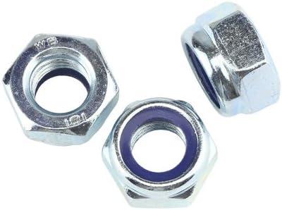 Stahl verzinkt Festigkeit 8 10 Stk DIN 985 Sicherungsmuttern M8