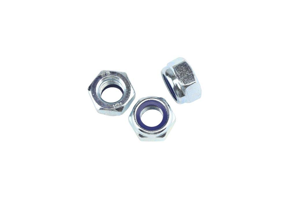 Stahl verzinkt Festigkeit 8 5 Stk DIN 985 Sicherungsmuttern M24