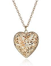 Rose Gold Color Heart Shape Picture/Photo Frame Locket Pendants Box Lovely 5 SP Photo Frame Setting Heart Locket Pendants 29x29mm