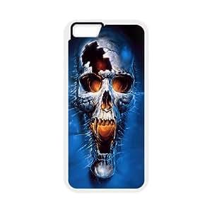 Skull iPhone 6 4.7 Inch Cell Phone Case White Elmmi