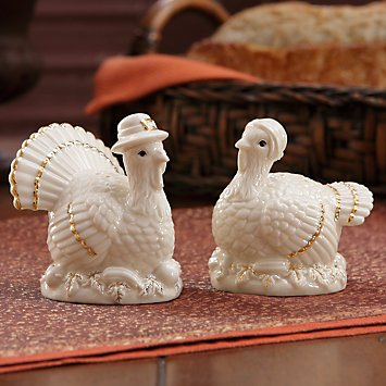 Lenox Mr and Mrs Turkey Fine Porcelain Salt and Pepper Shaker Set 816856 2.5