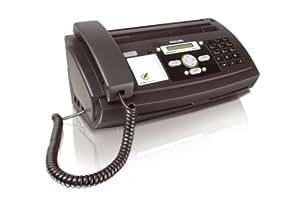 Philips PPF631E/ESB - Fax térmico con alimentador, 10 hojas, color negro