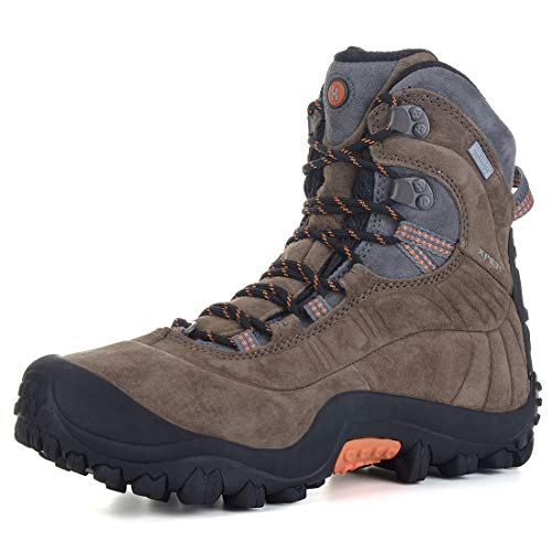 XPETI Men's Thermator Evo Mid High-Top Waterproof Hiking Outdoor Boot Brown 9.5