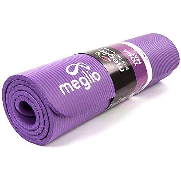 MEGLIO Esterilla de Yoga Antideslizante - En NBR de 10mm de ...
