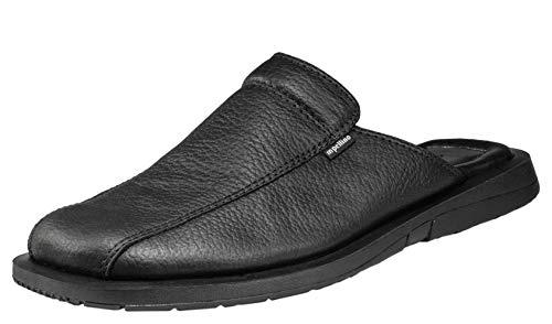Handmade Genuine Leather Closed Toe Dress Leather Sandals Men Slip On