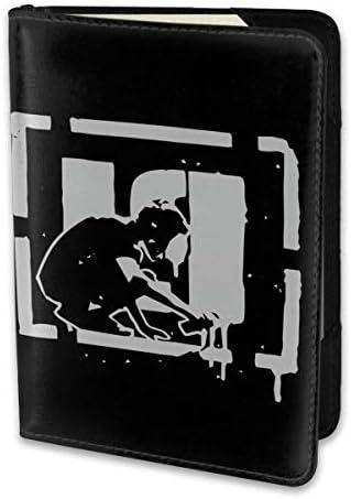 Linkin Park リンキンパーク パスポートケース メンズ レディース パスポートカバー パスポートバッグ 携帯便利 シンプル ポーチ 5.5インチ PUレザー スキミング防止 安全な海外旅行用 小型 軽便