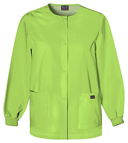Cherokee Women's Traditional Snap Front Warm-Up Jacket_Lime Green_X-Large,4350