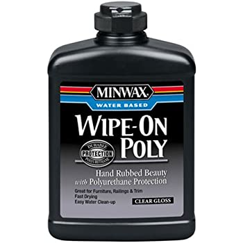 Minwax 409160000 Water Based Wipe-On Poly, pint, Gloss
