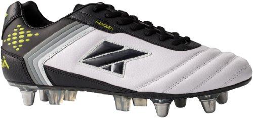 Kooga - Zapatillas de rugby blanco, negro y lima
