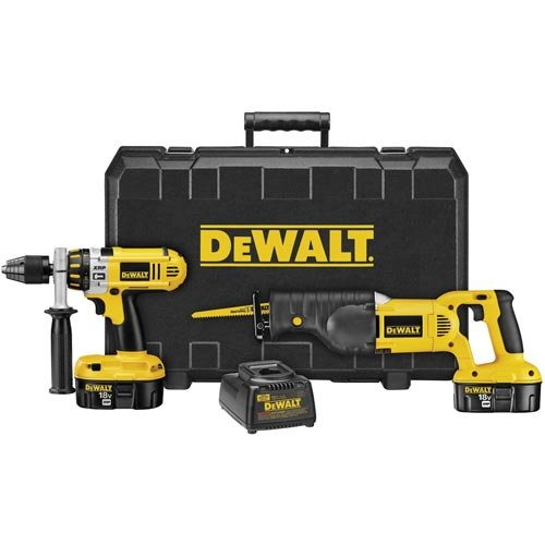 DEWALT DC2PAKCA XRP 18-Volt Cordless 2 Tool Combo Kit, includes Hammer Drill and Reciprocating Saw