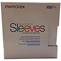 600pcs Memorex® CD/DVD Sleeves, White, Pack Of 100 (100 X 6 Pack)