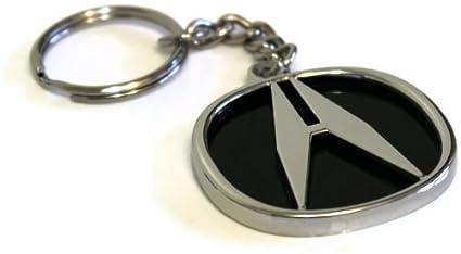 Acura Logo DIE CAST Chrome Metal Key Fob Keyring Keychain Lanyard Pilot