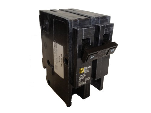 Square D Circuit Breaker, 80 Amp, 2-Pole, HOM280 by Square D Homeline