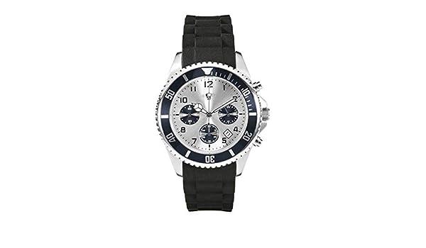 Auriol® Hombre Cronógrafo - Klassisch/Stilvoll - Caja de acero inoxidable Pulsera de silicona (Negro): Amazon.es: Relojes
