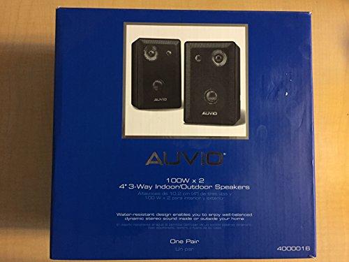 AUVIO 4-Inch 3-Way Indoor/Outdoor Speakers (Pair)