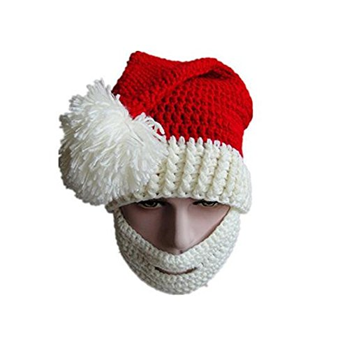 Unisex Christmas Winter Knitted Crochet Beanie Santa Hat...