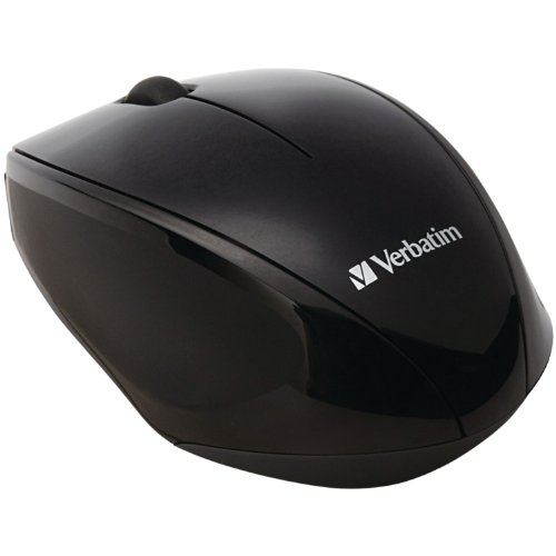 Verbatim Wireless Multi-Trac Blue LED Optical Mouse, Black