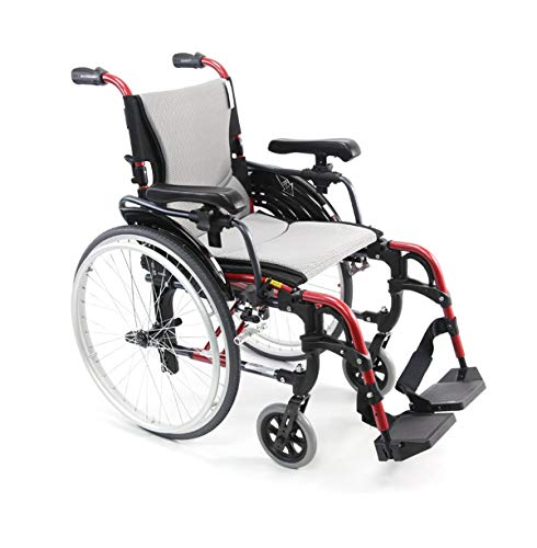 (Karman S-Ergo 305 Ultra Lightweight Ergonomic Wheelchair | Upgraded to Elevating Legrests | Seat Size 16