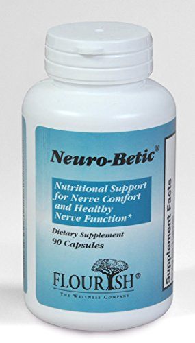 Flourish Wellness Neuro-Betic Nutritional Support for Nerve Comfort and Healthy Functioning, 90 Capsules
