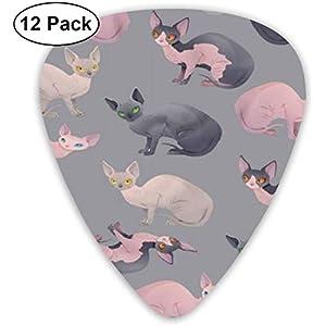 Guitar Picks Nake Cat Premium Celluloid Picks12 Pack enthält dünne, mittlere und schwere, extra schwere Messgeräte