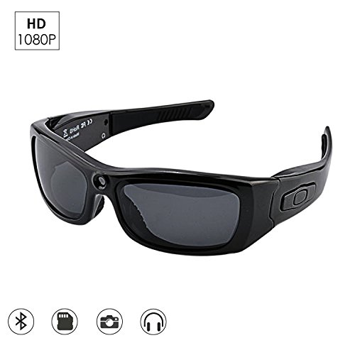 CAMAKT Bluetooth Sunglasses Camera, Full HD 1080P Digital Camera Video Recording Polarized Glasses for Sport Camera Sunglasses Mp3 Player