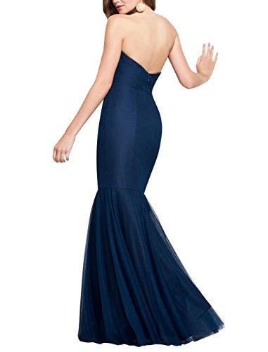 Etuikleider Damen Brau Tuerkis La Meerjungfrau Abendkleider Partykleider Einfach Lang Ballkleider mia Brautjungfernkleider vwqxpT7gw