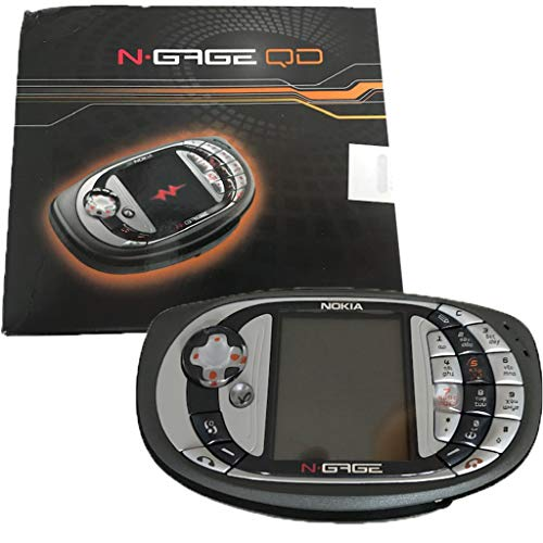 Nokia N-Gage QD 3.4MB Mobile Phone Gaming Bundle with Moto GP Original (GSM Only, No CDMA) Factory Unlocked 2G GSM Cellphone (Grey) - International Version (Best Nokia N Gage Games)