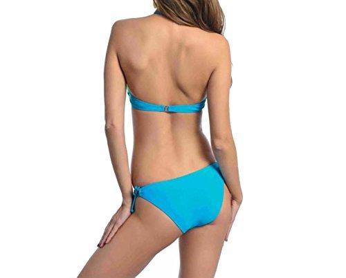 KUWOMINI. Multi-capa De Color Del Arco Iris Atractivo Pequeño Bikini Triángulo Yellow