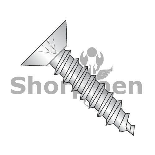 Phillips Flat Undercut Self Tapping Screw Type AB Fully Threaded 18-8 Stainless Steel 6-20 x 1/4 BC-0604ABPU188 (Box of 5000) Weight 4.45 Lbs