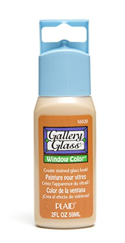 Glass Paint Window - Plaid Gallery Glass Window Color in Assorted Colors (2 oz), 16020, Amber