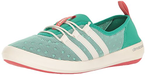 adidas outdoor Women's Terrex Climacool Boat Sleek Water Shoe, Core Green/chalk White/Tactile Pink, 6.5 M US by adidas outdoor