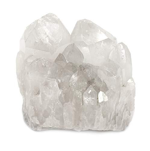 Crystal Quartz Cluster, 4oz Rough, Untreated Specimen – Natural, 100% Authentic Brazilian Quartz – The Artisan Mined Series by hBAR