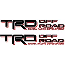 Toyota TRD Truck Off Road 4x4 Toyota Racing Tacoma Decal Vinyl Sticker (BLACK / RED)