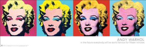 Andy Warhol Marilyns Pop Art Poster Print (Marilyn Monroe) 12x36 by Culturenik