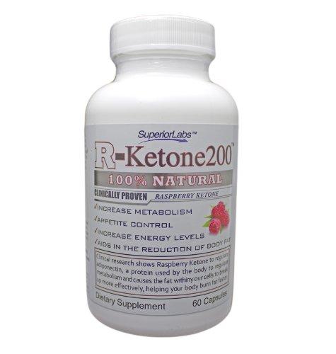 Supplément de cétone framboise - 100% naturel et Made in USA, 800 mg par portion, approvisionnement de 30 jours, Veggie Cap. Pas de gluten sans produits laitiers.