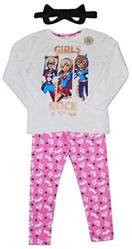 Girls DC Super Hero Pyjamas Harley Quinn Supergirl Batgirl (4-5 -