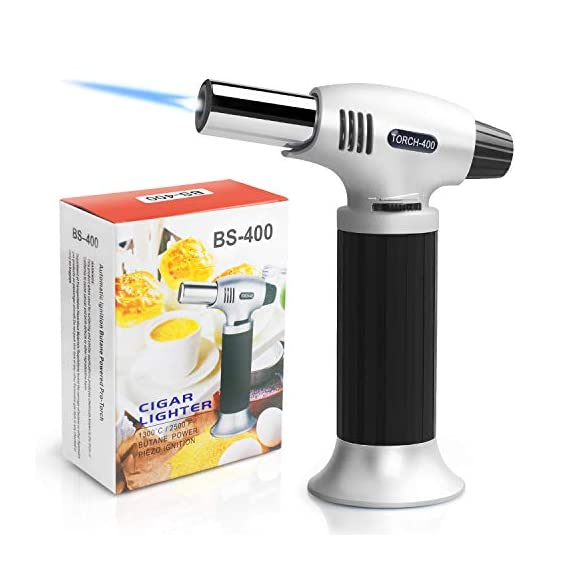 Authenzo-Kitchen-Butane-Torch-Lighter-Butane-Gas-Not-IncludedBlack