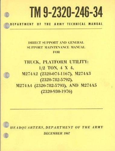 TM 9-2320-246-34: Maintenance Manual M274A2-M274A5 for sale  Delivered anywhere in USA