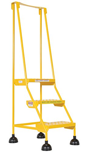 Vestil LAD-3-Y-P Steel Spring Loaded Roll Ladder, 16