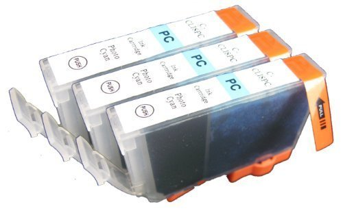 3pk non-OEM Canon CLI-8 Photo Cyan Compatible Ink Cartridge With CHIP! For Canon Pro9000 MP960 MP050 ip6700D!