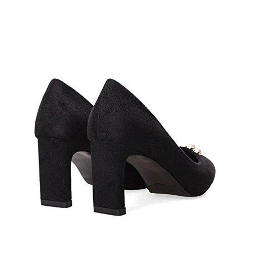 sandalen schuhe bühne hochzeit heels pumps geschlossene zehe high party frauen leder büro black arbeit perle casual P6xqSgPd