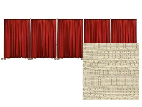 Pipe and Drape Banjo Backdrop Kit 8 ft. x 50 ft. - Champagne by P.D.O.
