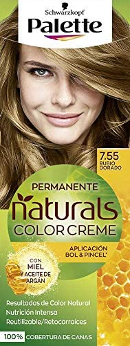 Palette Palette Natural Tinte #7.55-Rubio Dorado 110 ml ...