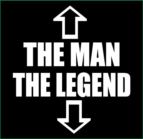 e85d8d08f80467 Superb Selection The Man The Legend Adult T-Shirt (Small, Black)