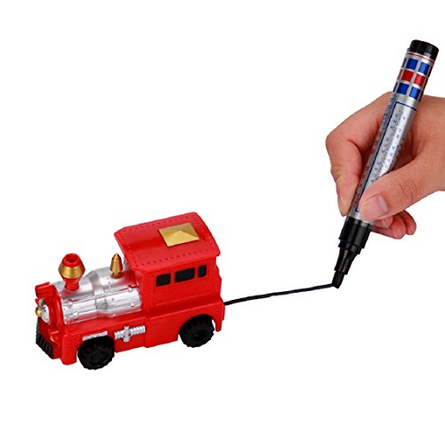 Naladoo 1PC Follow Any Drawn Line Magic Pen Inductive Toy Car Truck Bus Tank Model Toy (B)