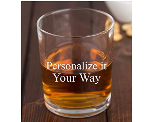 Personalized Rocks Glass - Whiskey Glass | Groomsmen or Groomsman Gift