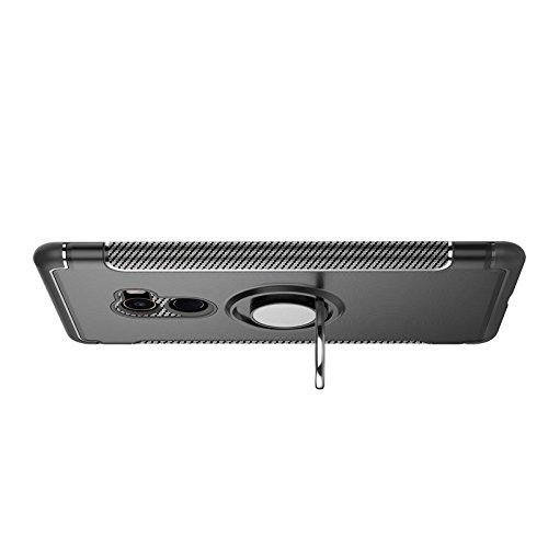 YAJIE-Carcasa Funda Para Xiaomi Mi Mix 2, armadura de doble capa 2 en 1 Heavy Duty caja de protección a prueba de golpes con 360 grados giratorio titular del anillo de dedo e imán Car Holder Case para Red