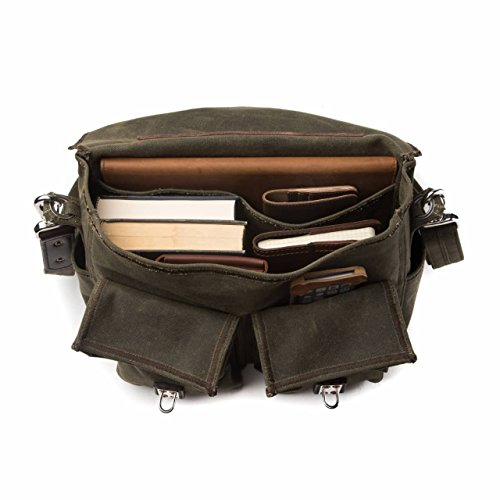 Saddleback Leather Canvas Front Pocket Gear Bag - Messenger Bag with 100 Year Warranty by Saddleback Leather Co. (Image #3)