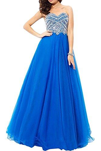 Tuell Promkleider Abendkleider Marie Blau Linie Langes Braut Damen Prinzess Abschlussballkleider A La Royal Ballkleider Rock AxI1Xqw1B
